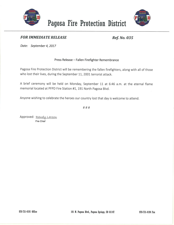9-11-17 Press Release