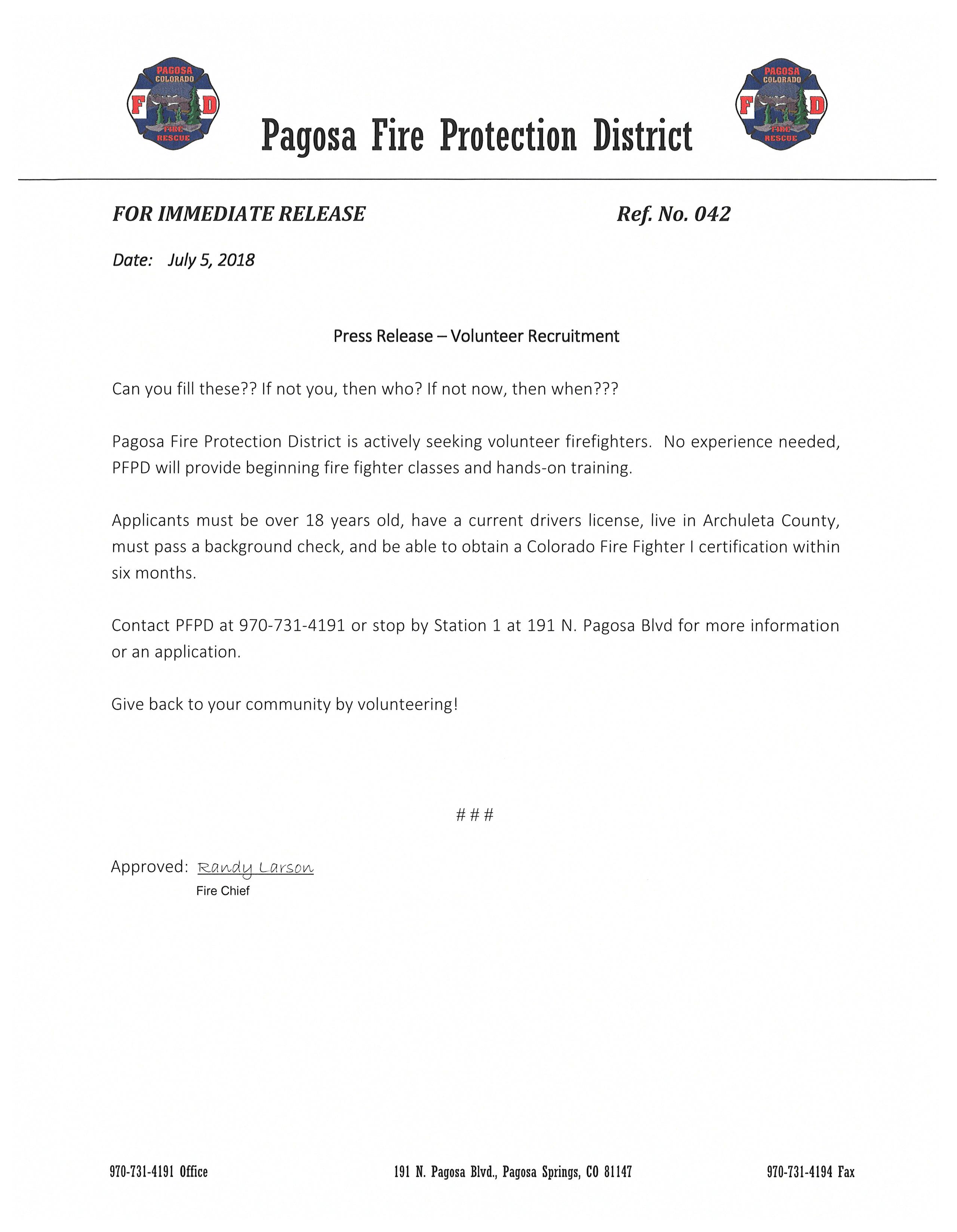 Press Release 042